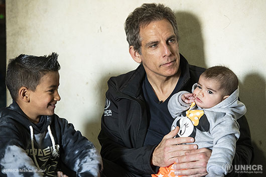 Ben Stiller meets Syrian refugees in Lebanon.